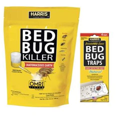 Harris Bed Bug Traps by Harris 32 Oz Diatomaceous Earth Bed Bug Killer And Bed