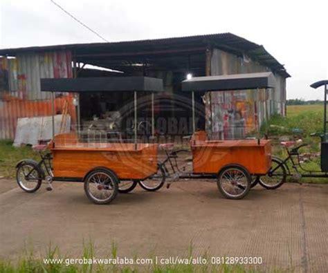 desain gerobak kopi gerobak sepeda vintage gerobak sepeda custom bandung