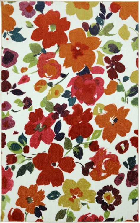 Bright Floral Rugs by Mohawk Home Bright Floral Toss 96 Inch X 120 Inch Rug