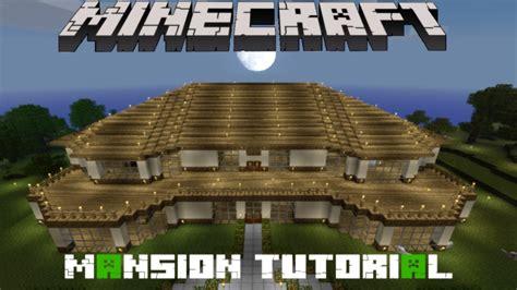 minecraft mansion tutorial