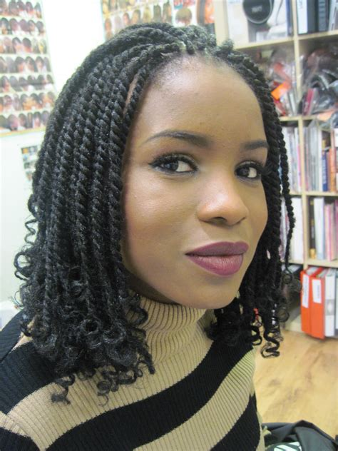 Hairstyles For Short Kinky African Hair | my short natural afro hair client worldofbraiding blog