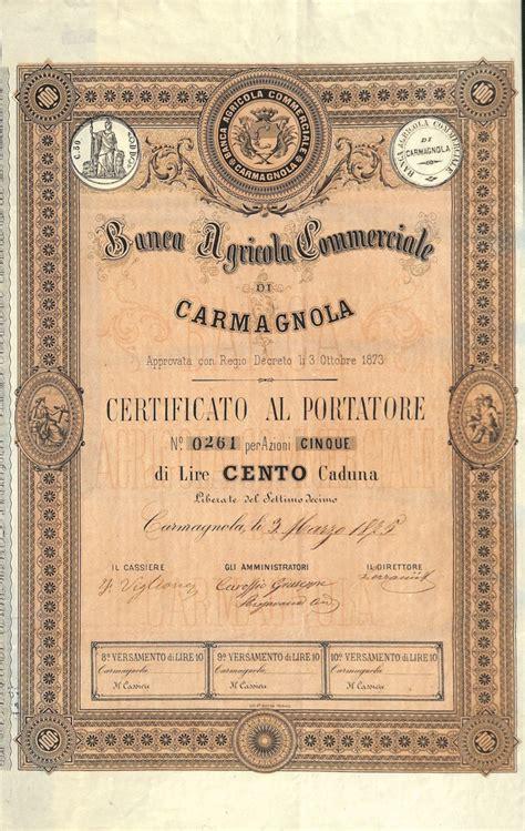 banche carmagnola banca agricola commerciale di carmagnola scripomuseum
