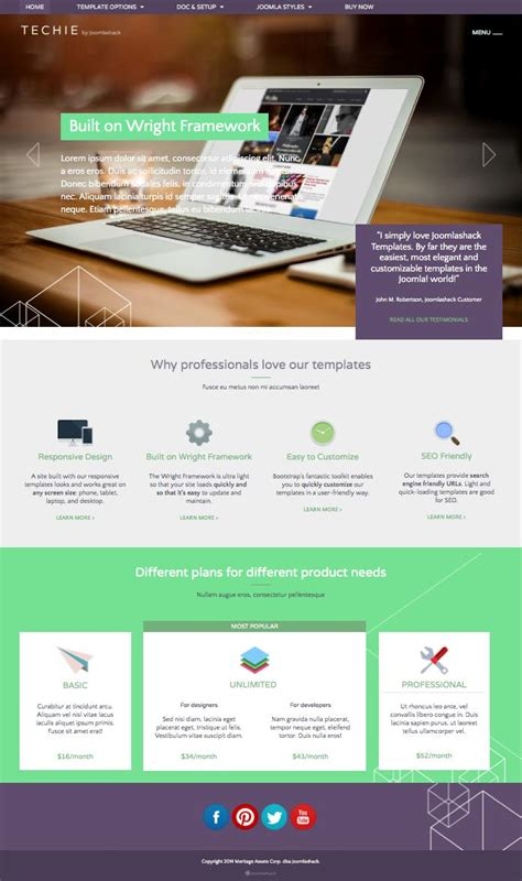 techie joomla stunning modern look technology template