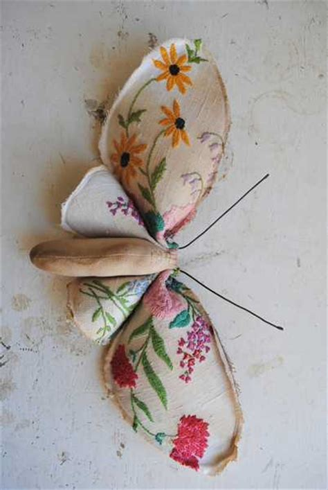 Home Decor Handmade Crafts - vintage style mushrooms and butterflies decorations