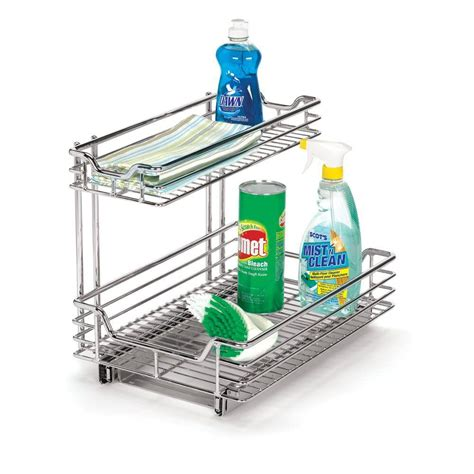 house essentials household essentials 12 in under sink sliding organizer