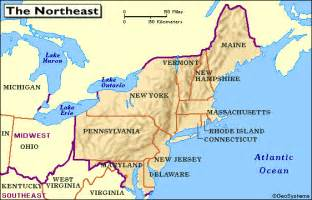 us northeast map history and culture a 2012 2013 northeastern of united