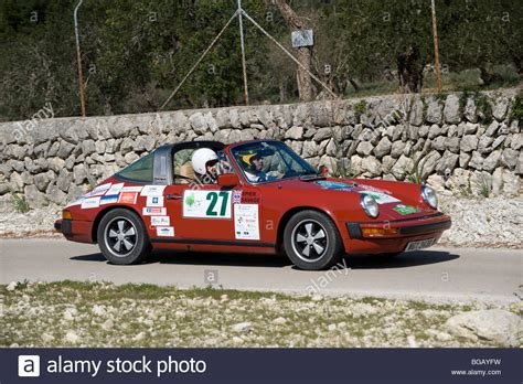 porsche classic car 1977 porsche 911 targa classic sports car taking part