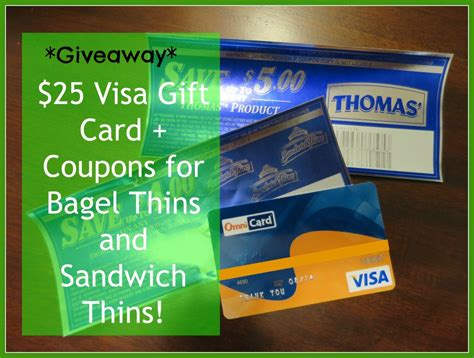 The Perfect Gift Visa Card - giveaway 25 visa gift card giveaway sandwich thins bagel thins coupons livin