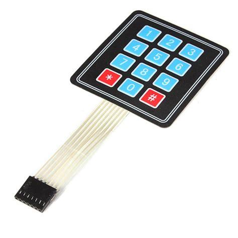 Keypad Membrane Matrix 12 12 key 4x3 matrix membrane type keypad