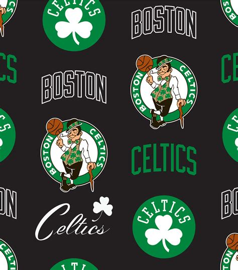 Boston Celtics Nba boston celtics nba tossed print fleece fabric jo