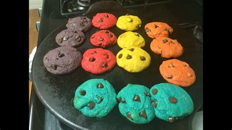 rainbow colored cookies