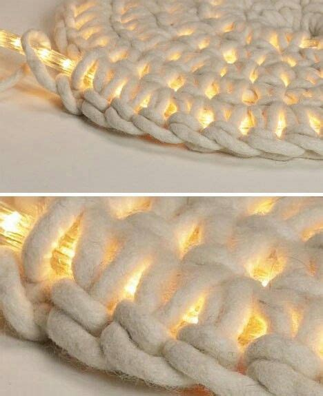 Rope Light Crochet Rug by Crocheted Rug Around Led Rope Lighting Cool Crafts