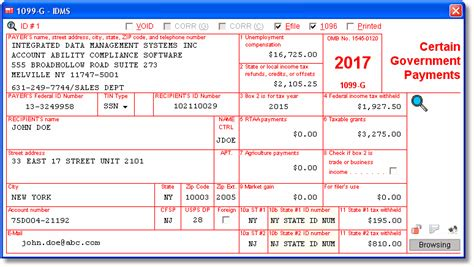 wyoming unemployment tax form 1099 g 1099 g software printing electronic reporting e file