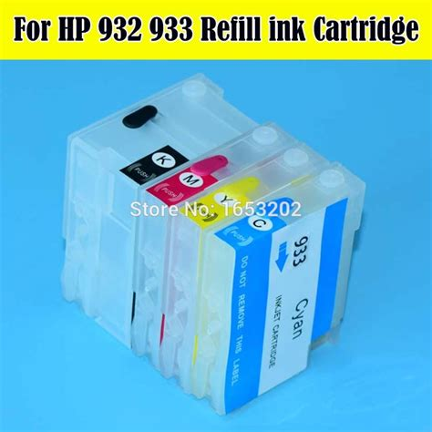 Print On The Go With No Ink Cartridges by ᗑ1 Set High Quality Empty For For Hp932 933 Refillable