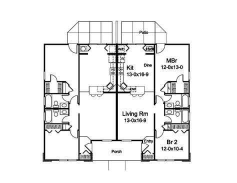 floor plan for duplex house small duplex house design