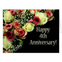 4th wedding anniversary cards photocards invitations more