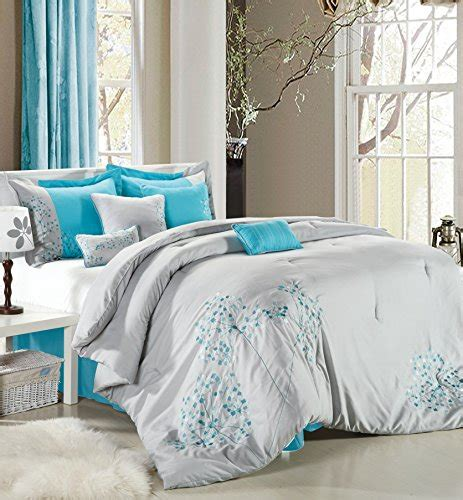turquoise and grey bedding blue and grey bedding