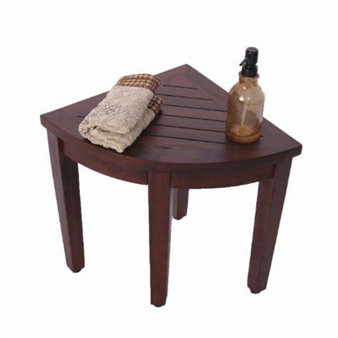 Bathroom Sitting Bench Oasis Teak Corner Shower Bench Fully Assembled 15 5