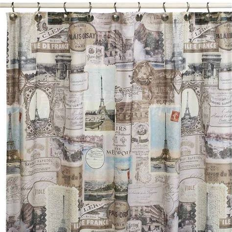 shower curtain vintage paris shower curtain