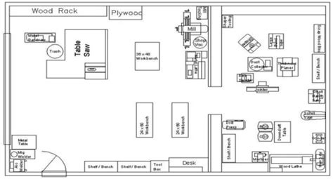 workshop floor plans workshop floor plan bob vila