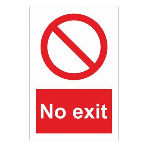 No Exit by No Exit Sign Entry Exit Signs Bath Signs Digital