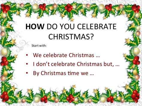 how do you celebrate christmas