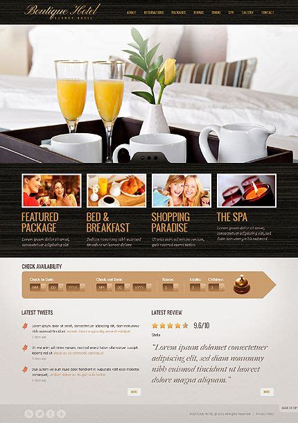 website template luxury hotels and carousels on pinterest 7 best images about hotel spa web design layouts on