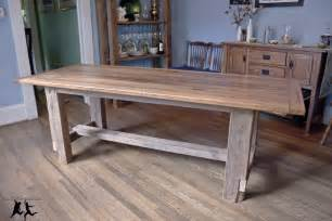 Unfinished Pedestal Dining Table Reclaimed Heart Pine Farmhouse Table Diy Part 5