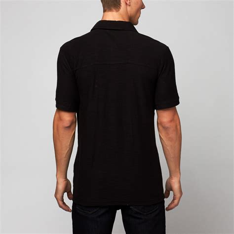 Polo Zipper polo zipper chest pockets black s substance common sense touch of modern