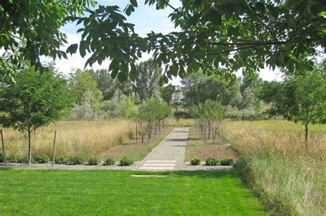 orchard and meadow path traditional landscape new