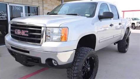 2011 gmc 1500 sle z71 crew cab 5 3l v8 lifted truck