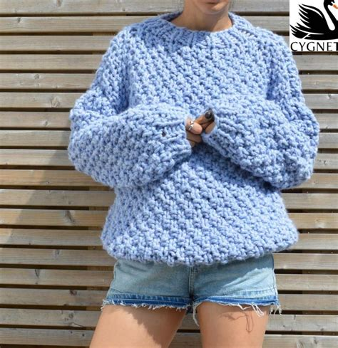 knitting pattern jumper chunky seriously chunky free sweater knitting pattern knitting bee