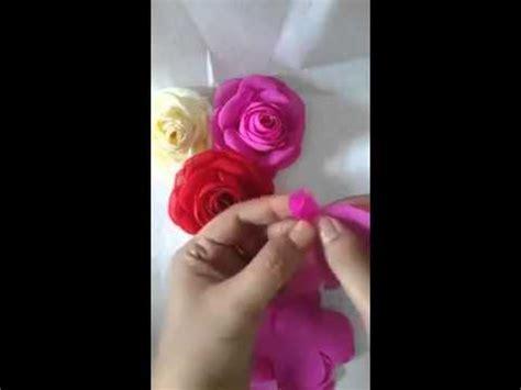 youtube membuat bunga mawar dari pita cara membuat bunga mawar dari kain youtube