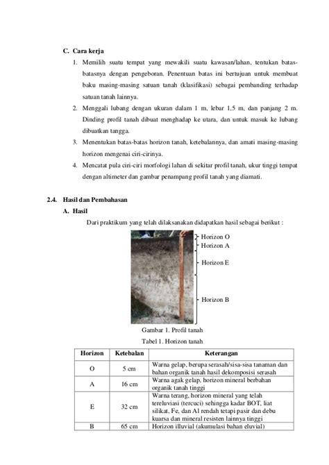 langkah membuat laporan praktikum laporan praktikum dasar ilmu tanah lengkap