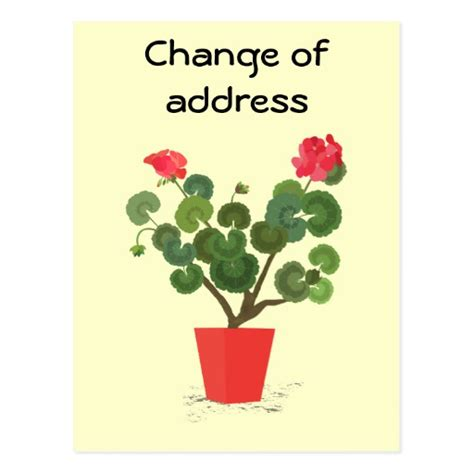 change of address cards change of address card templates