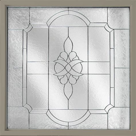 Decorative Glass Windows by 28 5 In X 28 5 In Decorative Glass Awning Vinyl Window