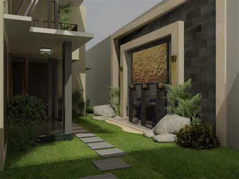 desain rumah dengan taman di dalam desain taman belakang dalam rumah minimalis sederhana