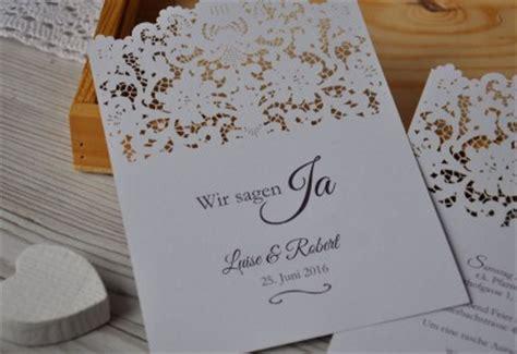 Einladungen Hochzeit Vintage Spitze by Einladungskarte Zur Hochzeit Mit Lasercut Spitze Vintage