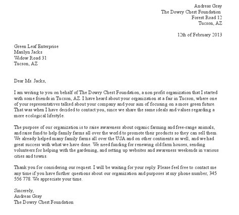 Donation Letter Prom Free Formal Donation Request Letter Exle