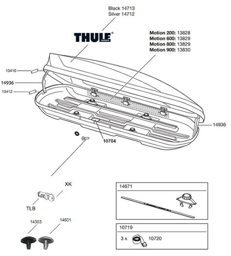 The Spare Parts Box spare parts for thule motion roof box motion