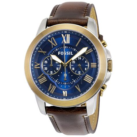 fossil grant chronograph blue s fs5150 grant fossil watches jomashop