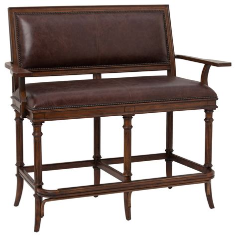 Counter Height Settee churchill settee bar height traditional loveseats other metro by ambella home