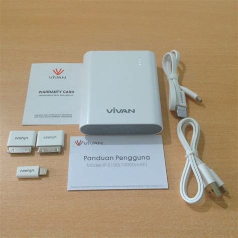 Vivan Ips 20 power bank vivan ips 100 10000mah white