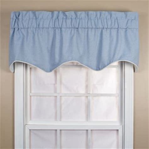 And Blue Valance Buy Blue Window Valances From Bed Bath Beyond