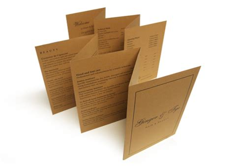 Rolling Paper Origami - leaflet design and print datasheet design