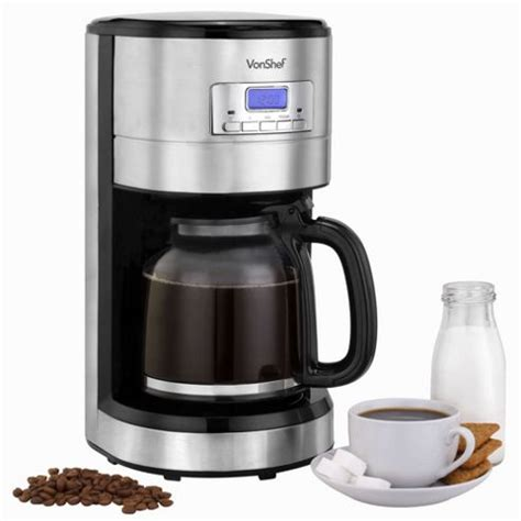 Buy VonShef 1000W Programmable Digital Filter Coffee Maker from our Filter Coffee Machines range