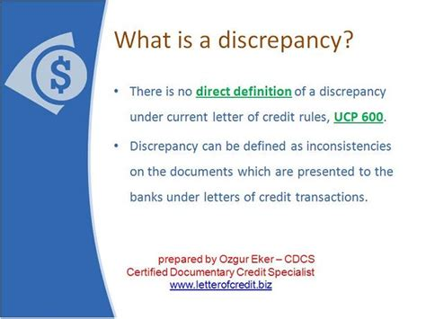 Letter Of Credit Discrepancies Top 10 Discrepancies In Letters Of Credit Presentation 2 Lc Worldwide What Is A Discrepancy