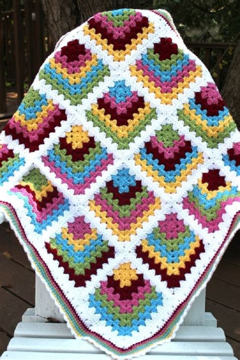 Free Square Baby Blanket Pattern by Mitred Crochet Blanket Square Free Crochet