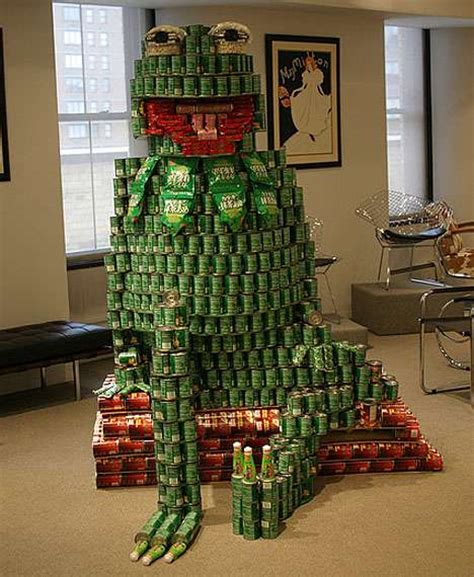how to build a canned food sculpture funny casino amazing canned food sculptures