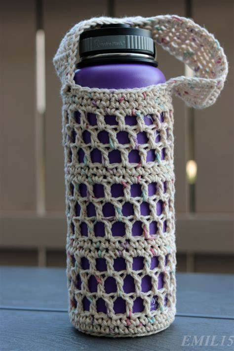 crochet pattern water bottle holder something by vera handmade crafts and crochet hydroflask